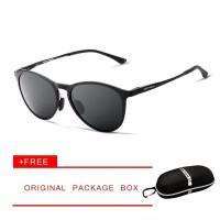 VEITHDIA kacamata Unisex Retro Aluminum Sunglasses Polarized 6625