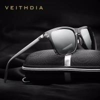 Veithdia Kacamata hitam anti silau ultraviolet Polarized 6108 silver