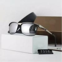 COD Kacamata hitam pria Polarized Polaroid Anti silau UV BMW 735