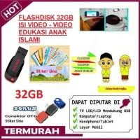 Flashdisk Video Edukasi Anak Muslim 32GB + Stiker Doa Sehari-hari+OTG