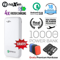 Naxen Power Bank Real Capacity 10000mAh 18W Quick Charger 3.0 Qualcomm