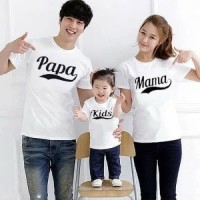 Baju couple cp family pamakid putih ff matt katun