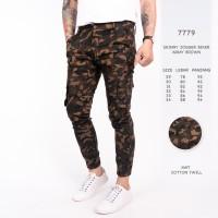 Celana Panjang Pria / Celana Jogger Army Green Brown