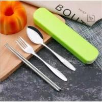 FS761 Set alat makan(sendok garpu sumpit)stainless steel