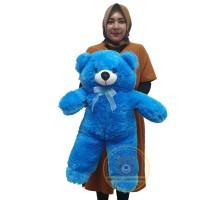 boneka beruang panda teddybear xl tinggi 60cm - Biru