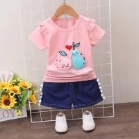 BARU Setelan baju santai anak perempuan import /baju celana anak cewek