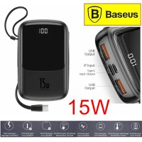 BASEUS Power Bank Powerbank 10000mAh LED Fast Charging 3A 15W - Type C