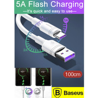 Baseus 5A USB Type C Cable Super Quick Charge for Huawei ,S8+,S9 -1 M