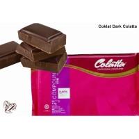Colatta Dark Compound 1 KG / coklat blok colata hitam 1kg