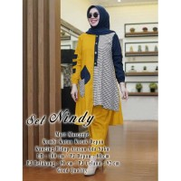 Stelan Nindy Mustard [Gamis 0152] TA0 Baju Gamis Wanita Terbaru