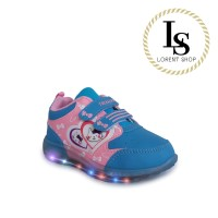 Sepatu Anak Perempuan Kets Karakter Hello Kitty LED / Sport Sekolah TK - 28, Pink