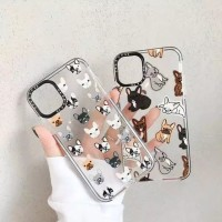 PUG DOG SOFTCASE FOR IPHONE 7 8 PLUS 7+ 8+ / ANTI SHOCK CASE CUTE