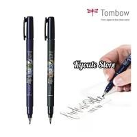 Tombow Fudenosuke Soft Hard Tip Brush Pen Lettering Kaligrafi