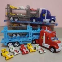 Truk Angkut Hauler Mainan Mobil Trailer Truck Mobilan Anak