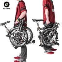 Tas Jinjing Sepeda Lipat Brompton merk Rockbros Tipe B38 Bike Carrier