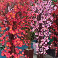 Bonsai Bunga Sakura Mei Hwa 2m Hiasan Dekorasi Artificial