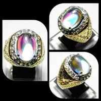 cincin batu kalimaya pelangi