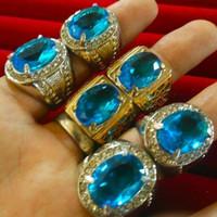 cincin batu blue topaz cutting