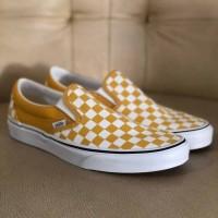 Vans Classic Slip On Checkerboard - Yolk Yellow