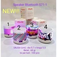 Speaker Bluetooth Mini speaker retak model BARU lampu tidur Terbaik