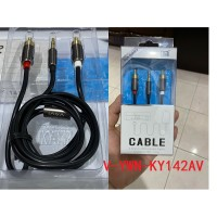 Kabel Audio VAVI KY142AV 3.5mm male To 2 RCA Male High Quality