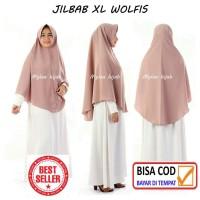 "Jilbab Instan WOLFIS Wolpeach EXCLUSIVE size XL ""TANPA SERUT"" dewasa"