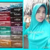 Hijab Instan Serut , Bergo jersey, jilbab instan,