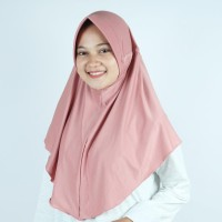 Jilbab Instan Serut Spandek M / Kerudung Sorong Serut M
