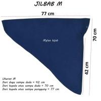 Jilbab instan serut anak sekolah size M bahan kaos PE M01 HARGA