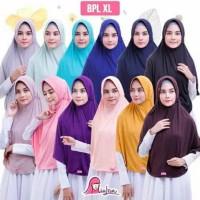 Jilbab Instan Bergo Miulan Plain Laura XL Jumbo Dewasa | Jilbab Serut