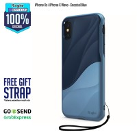 Rearth Ringke Wave Double Protection Case iPhone X Ten 10 Coastal Blue