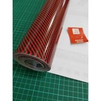 Stiker - Sticker Karbon 5D - Skotlet Maxdecal Carbon 5D - Black Red