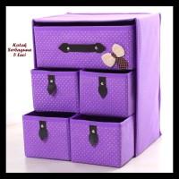 Kotak Serbaguna 5 Laci Purple (Kotak Utk Tempat Pakaian Dalam) Limited