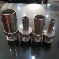 sambungan selang 3 per 4 x 1 inc SS 304 hose nipple reducer onderdi