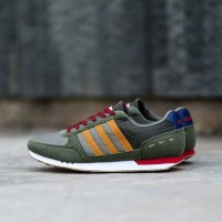 SEPATU ORIGINAL ADIDAS NEO CITY RACER GREEN BROWN