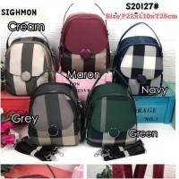 SG20127 Tas Import Wanita Sighmon Motif Kancing 3in1