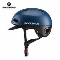 READY RockBros Helm Sepeda Ultra Ringan Dengan Topi Bike Helmet WT 09 - Biru