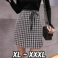 (#9802 XL/XXL/XXXL)Elvina Skirt/Rok Pendek/Rok Autumn/Rok wanita