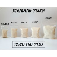 Standing Pouch 12 x 20 (50 pcs) / Plastik Klip Berdiri Termurah!!