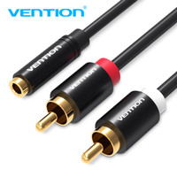 Vention [R01 1.5M] Kabel Aux 3.5mm Female to 2 RCA Male