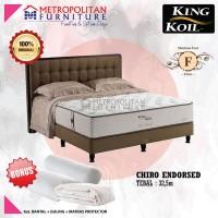 Kasur Springbed King Koil Chiro Endorsed 120 x 200 Full set kasur
