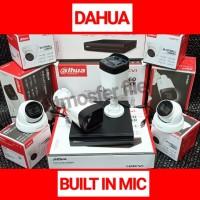 PAKET CCTV DAHUA 4CH 2MP BUILT IN MIC/AUDIO HDD 1TB NON KABEL