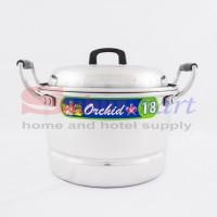 Panci masak Serbaguna / Panci kukusan Aluminium Orchid 18cm