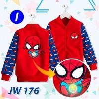 jaket spiderman lampu Jw 176 i - Kids