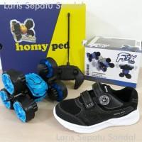 Sepatu Anak Homyped dan Hadiah Mobil Flex Car 2020 - Hitam Putih