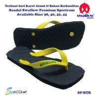 Sandal Swallow Premium Spectrum Pria Black – Tali Kuning