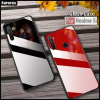 REALME 5i TEMPERED GLASS CASE COLOR COVER SOFT BUMPER HARD CASING OPPO