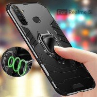 REALME 5i TRANSFORMER RING HARD SOFT CASE MAGNETIC COVER CASING OPPO