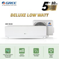 AC GREE 3/4 PK GWC-07C3E DELUXE LOW WATT - PUTIH [INDOOR+OUTDOOR UNIT