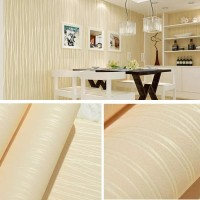 Polos soft yellow tekstur serat 45 cm x 10 mtr || Wallpaper dinding